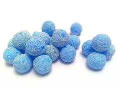 Hard round balls coated in tiny sugar crystals with a very fizzy, intense Raspberry flavour. Blue Sweets, Sugar Crystals, Hard Candy, Blueberry, Raspberry, Durham, Fruit, Balls, Store