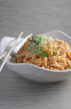 Spicy Vegetable Pad Thai {Little Leopard Book}