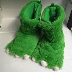 Little boys Dino slippers Green little boys toddler slippers Shoes Slippers