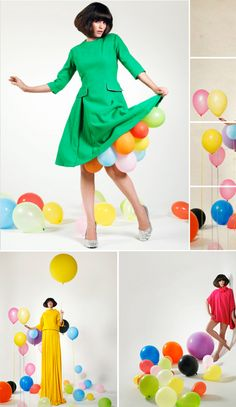 Graham Atkins Hughes. tehehe i love the balloons coming out the dress