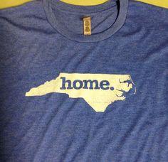 North Carolina Home Tshirt Unisex BLUE by bodhicitta on Etsy, $21.95