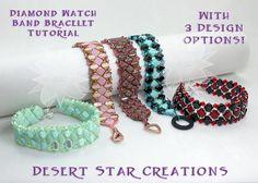 Silky Diamond Watch Band Bracelet Pattern by DesertStarCreations