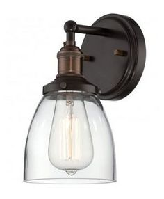 """Clear glass dome shade designed to cast a soft ambient light over a wide area Reversible Mounting - May be installed with the glass pointed upward or downwards Suitable for damp locations Bulb Base - Medium (E26) Compatible Bulb Types: Nearly all bulb types  Bulb Included: Yes Bulb Shape: A19 Extension: 6.125"""" Height: 9.75"""" Number of Bulbs: 1 Product Weight: 12.562 lbs Reversible Mounting: Yes UL Rating: Damp Location Voltage: 120v Wattage: 100 Watts Per Bulb: 100 Width: 5.125"""""""