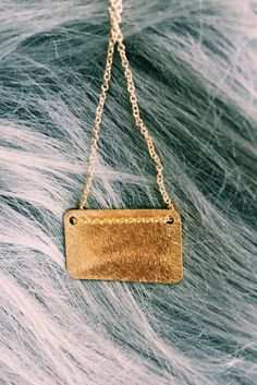 BY BOE Gold Fill Tag Necklace