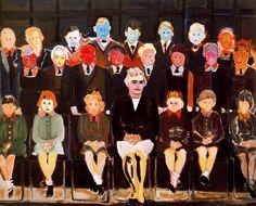 'The Teacher (sub a)' - 1987 - by Marlene Dumas (South African, b. 1953)