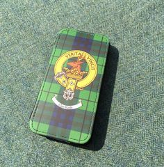 Flip case for iPhone 5 with Keith clan crest.