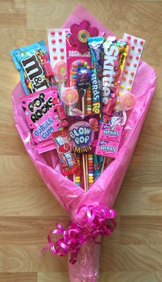 Candy Bouquet! Perfect gift for a kid- maybe for a birthday when you pick them up from school bday gifts | bday gifts for best friends | bday gifts for boyfriend | bday gifts for mom | bday gifts for friends | bday gifts for girls | bday gifts for her