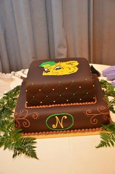 Baylor Sailor Bear groom's cake
