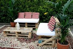 Pallet crate furniture