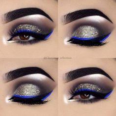 @theglamform #eyeshadow #goldeyemakeup