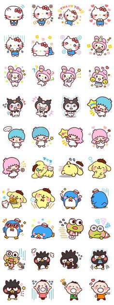 【2013】Line Stickers SARNIO 可愛明星大集合 ★Little Twin Stars★