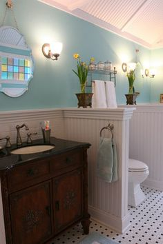 Bathroom Design Ideas, Pictures, Remodeling and Decor/Farmhouse Chic