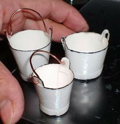 how to: miniature faux enamel buckets