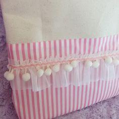 ピンク三昧なフリルのレッスンバッグ(受注製作)