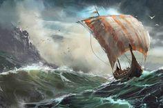 Viking ship  by David Seguin