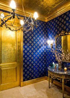 powder bathroom formal mirror