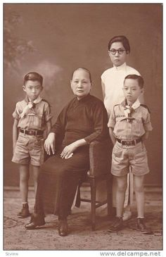 RP: Chinese Boy Scouts & Grandmother & Mother portrait , 00-10s Item number: 202524120  - Delcampe.com