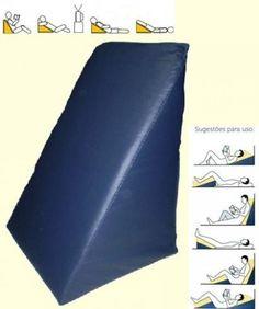 Descanso Travesseiro Espuma Triângular p/ Leitura