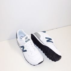 New balance 574 in White Leather