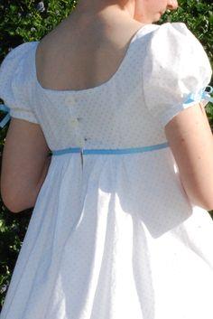 Shannon's Regency Dress Back