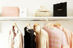 And, of course, the fashion icon would need a very large, color-coordinated closet—all in tones of black, white, and blush pink.