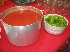 Tomato sauce recipe from scordo.com. My friend Maria Rosa and I made a sauce almost exactly like this in Cosenza, Italy. She did not use garlic in her sauce, and she added a pinch of dried red Calabrian pepper. Fabulous!