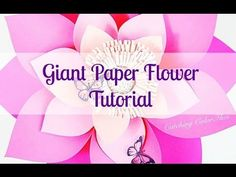 Alana Style DIY Giant Paper Flower Instructions