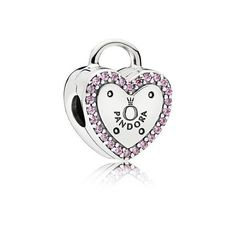 Lock Your Promise Clip, Fancy Fuchsia Pink CZ | PANDORA Jewelry U