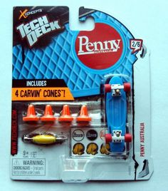 Tech Deck 2012 Penny Australia Blue 70mm Fingerboard
