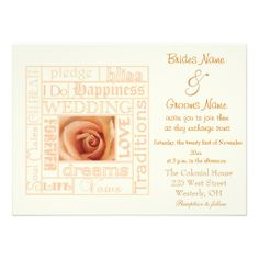 Wedding Words Wedding Invitation  A wide assortment of wedding invitations  http://www.zazzle.com/whitewavespaperie?rf=238537666927776815