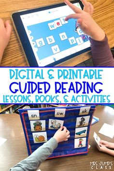 Guided reading lessons and activities for kindergarten and first grade! Books and activities are available in a digital and printable format for classroom use or virtual learning.