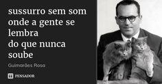sussurro sem som onde a gente se lembra do que nunca soube — Guimarães Rosa