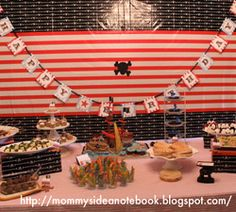 Cute, simple backdrop for cake table