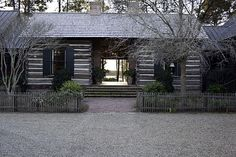 Too much to love about this - The Hunting Porch Cabin Plans, Shed Plans, Dog Trot House Plans, Log Cabin Exterior, Cabins And Cottages, Log Cabins, Rustic Cabins, Mix Use Building, Indoor Outdoor Living
