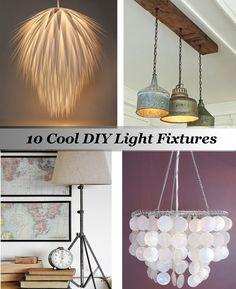 10 Cool DIY Light Fixtures