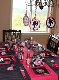 barbie-party-table