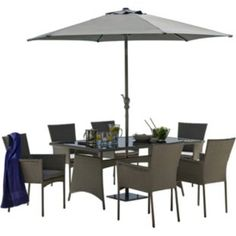 Buy Hand-Woven Havana 6 Seater Patio Set - Express Delivery at Argos.co.uk - Your Online Shop for Garden table and chair sets.