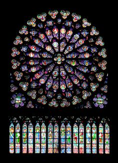 Notre Dame stained glass - ah Paris !