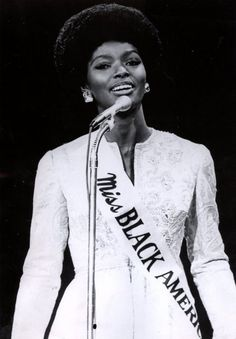 The first Miss Black America, Saundra Williams.