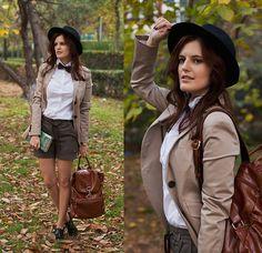 Mango Blazer, Zara Hat