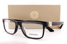Versace Eyeglasses Frames 3211 Black for Men 100 Authentic Sz 55 for sale online Versace Eyeglasses, Eyeglasses For Women, Versace Glasses Frames, Eyeglass Frames For Men, Fashion Eye Glasses, Vogue, Luxury Sunglasses, Designer Handbags, Designer Wallets