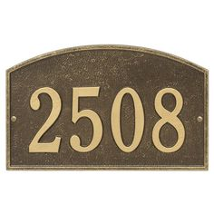 A classic design in the Legacy gives this house number plaque a distinctive appearance that lets you express your personalized taste. The slight curved top design gives a strong presence for updating the address numbers of your home. Address plaques make perfect housewarming gifts, gifts for mom as well as gifts for dad.