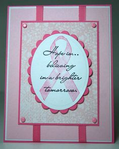 breast cancer awareness Rubber Stamps | Breast Cancer Awareness ~*HOPE IS*~ card #1 - Stampin Addicts Gallery