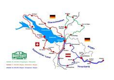 Strecke der 3. Auto Bild Bodensee Klassik Rallye