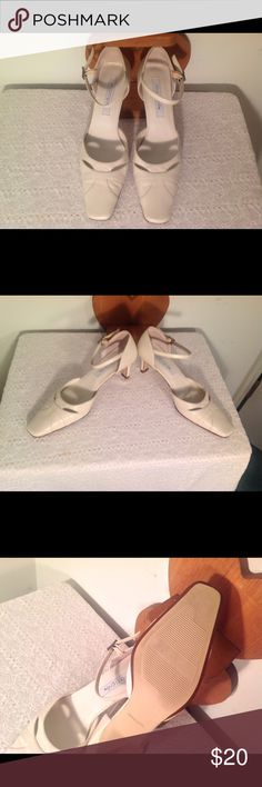 Maripe White Leather Sling Back Cream color Maripe sling back shoes.  * Size 7M*  Never worn * Slight peel on the back of the right shoe above the heel * 2.5 inches heel * Leather upper * Maripe Shoes Heels