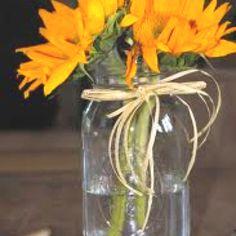 Sunflowers with twine.
