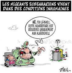 Dilem (2016-12-11) Les migrants subsahariens vivent dans des conditions inhumaines
