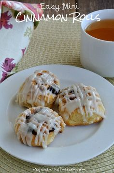 Easy Mini Cinnamon Rolls are precious little treats that will almost melt in your mouth.
