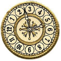 Vintage Clip Art - Scrap Clock Faces - Steampunk - The Graphics Fairy