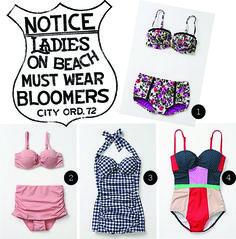 vintage-inspired swimsuits. via Stockroom Vintage. http://www.stockroomvintage.com/2012/03/style-files-vintage-swimwear/